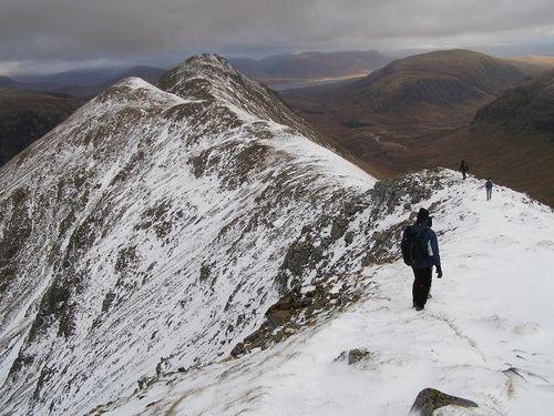 Stob Coire Raineach ridge