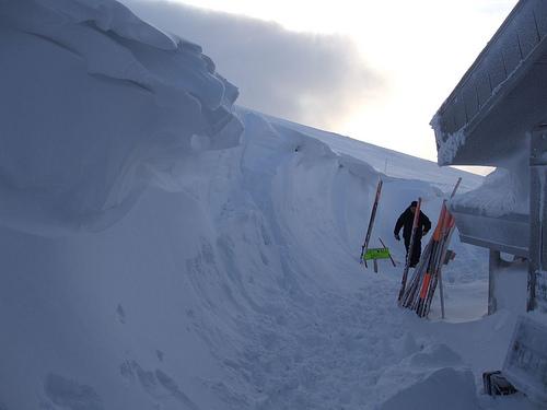 Cairngorm snow drift