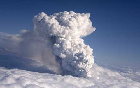 Eyjafjallajokull erupts