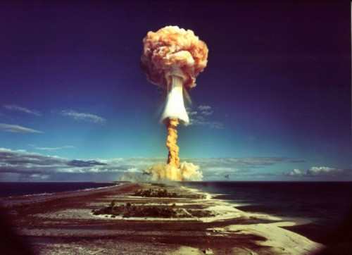 Nuclear test in the south pacific