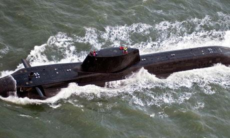 HMS Astute in water