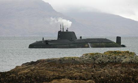 HMS Astute grounded