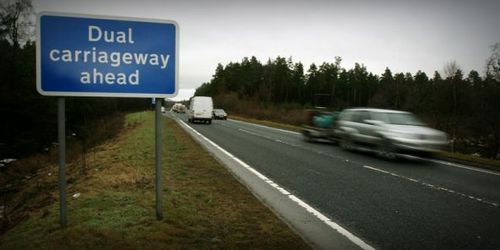 A9 dual carriageway ahead