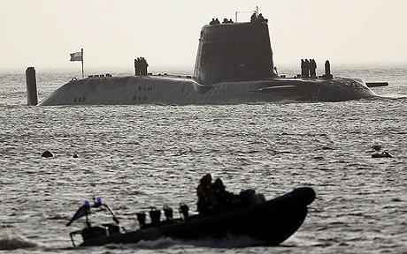 HMS Astute afloat