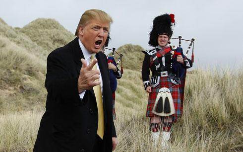 Donald Trump at Menie