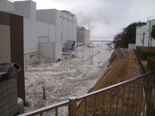 Fukushima flooded