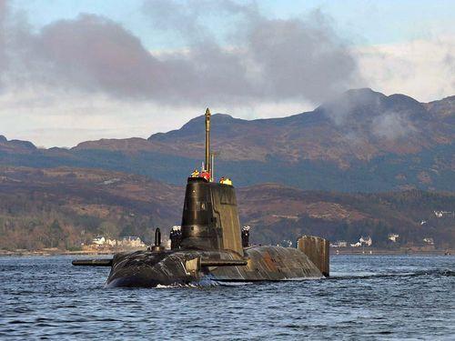 HMS Astute off Scotland