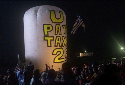 U2 protest