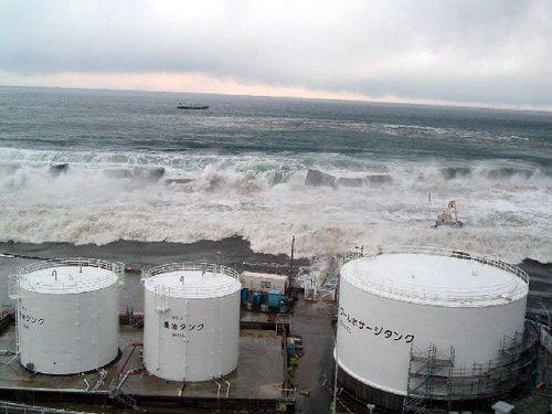 Tsunami hits Fukushima