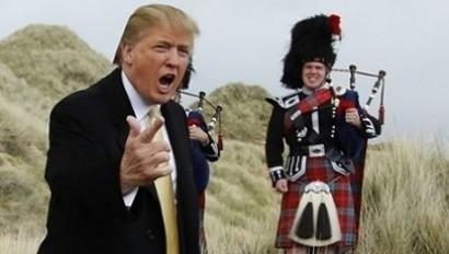 Donald Trump with piper