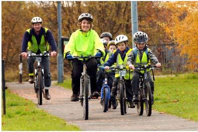 Children cycling