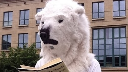 Polar bear protestor