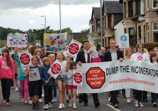 Protest against Newton Mairns incinerator