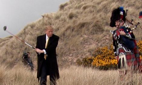 Trump with piper