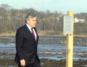 Gordon Brown at Dalgety Bay