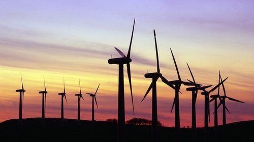 Windfarm at sunset