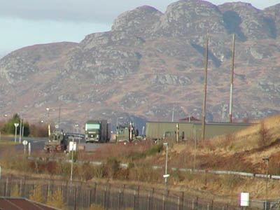 Nuclear weapons convoy at Coulport