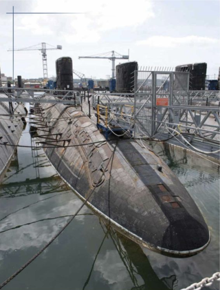 Nuclear submarines awaiting disposal