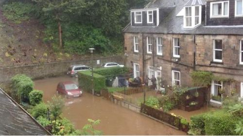 Flooding in Stockbridge