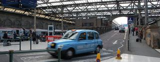 Taxi at Edinburgh Waverley