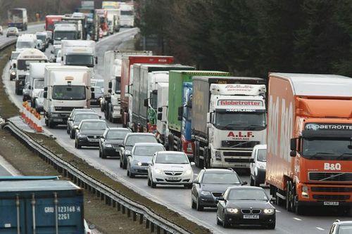 Motoroway traffic jam