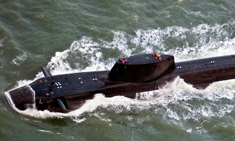 HMS Astute at sea