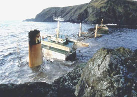 MV Braer grounded