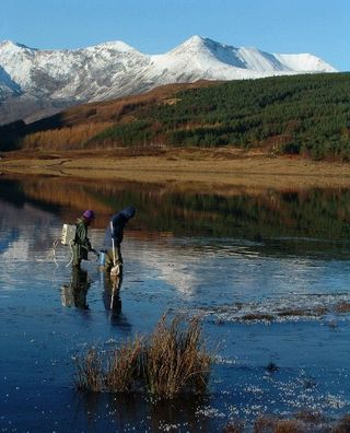 Fishing on Loch Coulinin (photo from WRFT)