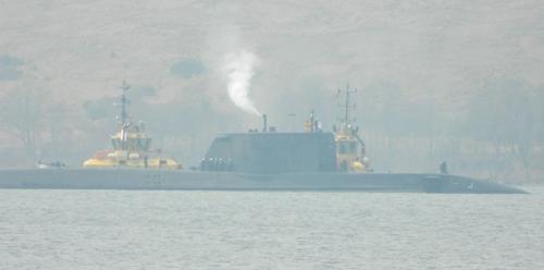 HMS Ambush in Gareloch (thanks to Faslane Peace Camp)