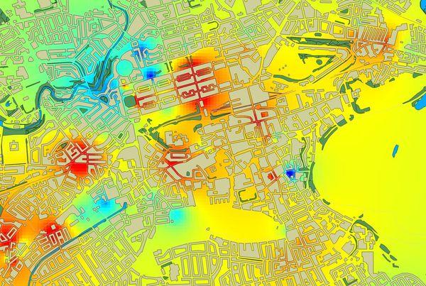 Map of air pollution in Edinburgh