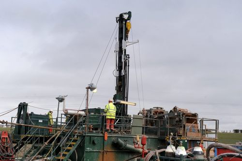 Drilling for coal near Canonbie
