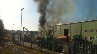 Fire at Scotgen waste plant