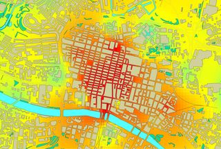 Map of air pollution in Glasgow