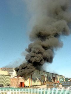The fire at Scotgen's Dumfries waste plant