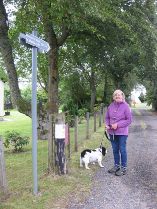 Sandra Murray and her dog, Millie, at Auchterarder (©Dave Morris)