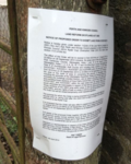 Notice restricting access at Aucheterarder (© Sandra Murray)