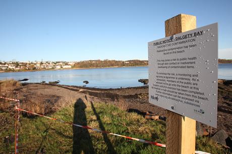 Warning sign at Dalgety Bay