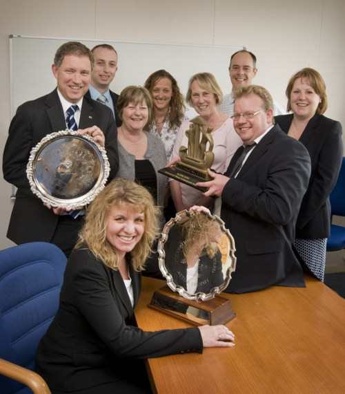 AWE celebrating safety awards in 2008