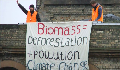 Protest against biomass