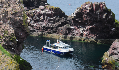 A diveboat at St Abb's Head, by Graham White