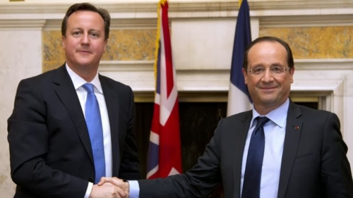 David Cameron and François Hollande