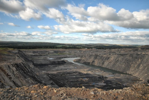 Mainshill opencast coal mine (thanks to Coal Action Scotland)