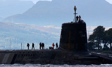 Nuclear submarine on the Clyde