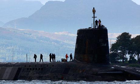 Nuclear submarine on the Clyde