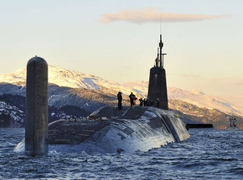 Trident submarine on the Clyde