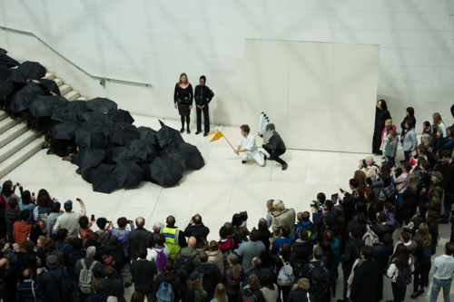 Protest performance at the British Museum (photo thanks to BP or not BP?)