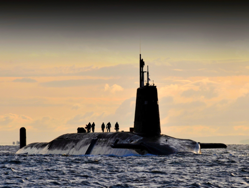 Trident submarine (photo thanks to Ministry of Defence)