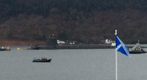 Vanguard submarine on Loch Goil (with thanks to Katherine Alexander)